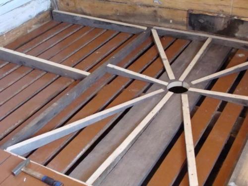 Как сделать в бане деревянный пол